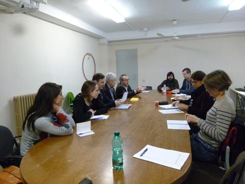 Les rencontres avec les partenaires du projet se sont déroulées en premier lieu au Conseil Régional pour une présentation des différents partenaires.